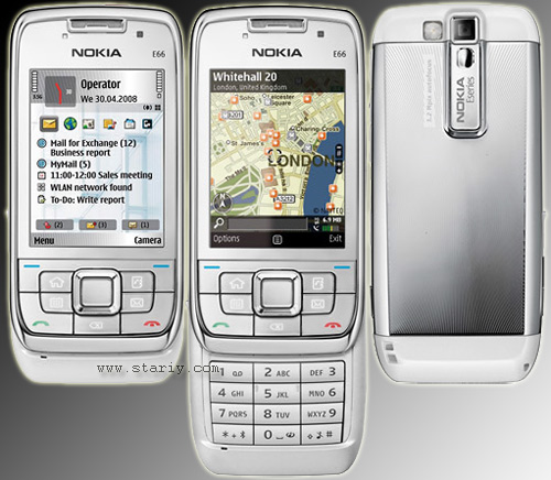 Nokia E66 White Steel и Nokia E66 Grey Steel