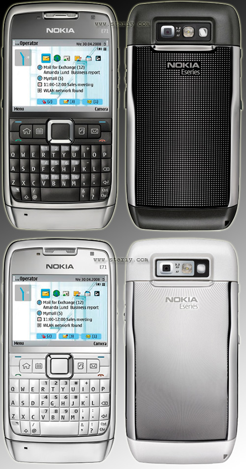 Nokia E71 Grey Steel и Nokia E71 White Steel