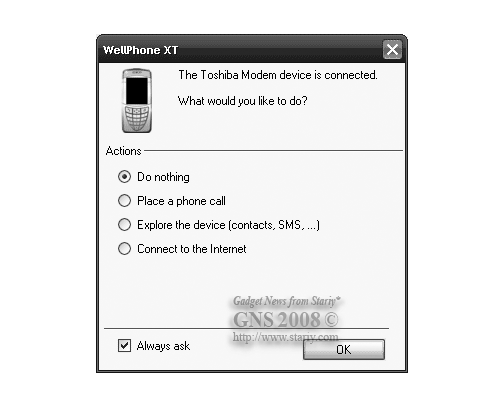 Toshiba G450 WellPhone XT