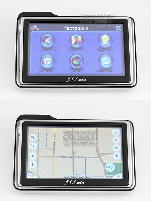 ALLwin U-Route URL001 AW-22B, GPS, Bluetooth, FMT, TMC, MP3, MP4, E-Book, Atlas-III