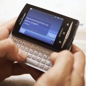 1. Sony Ericsson Xperia X10 mini pro.